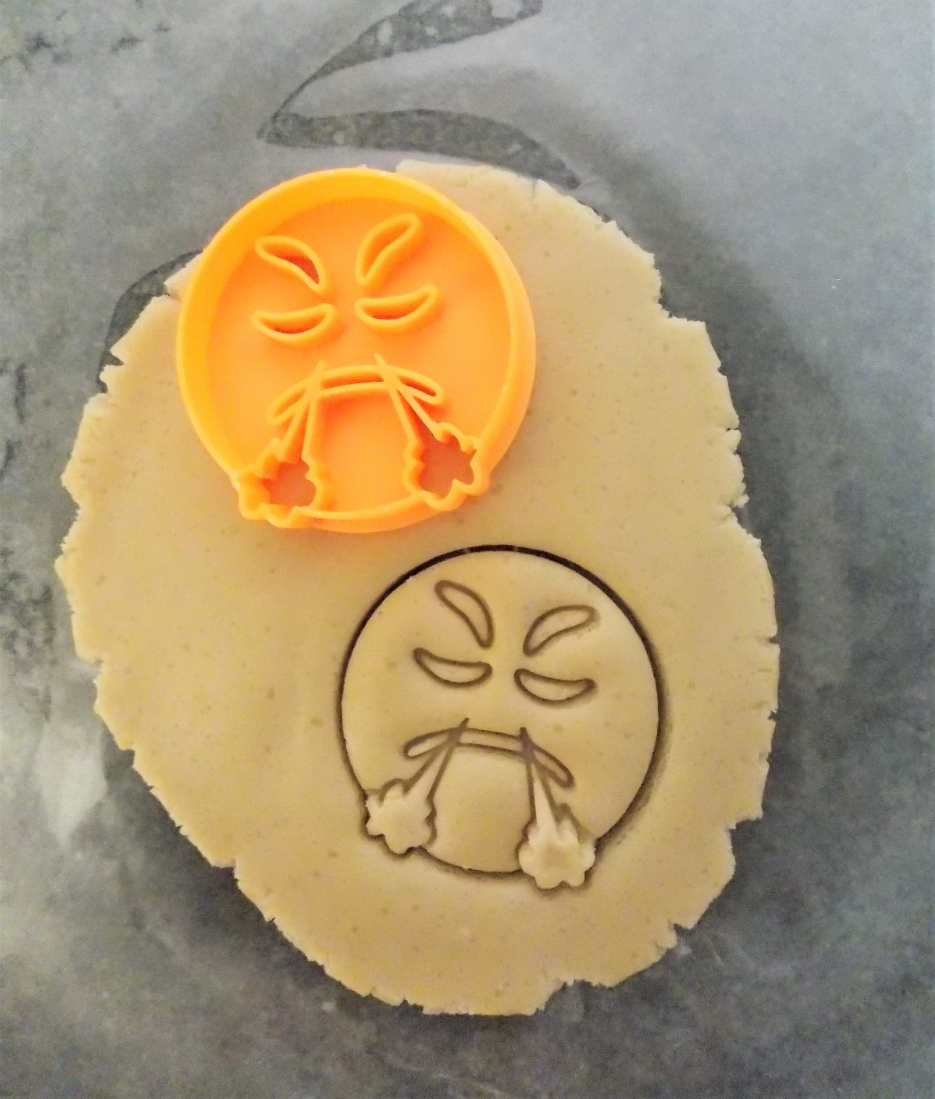 Mini Angry Emoji Two Part Cookie Cutter
