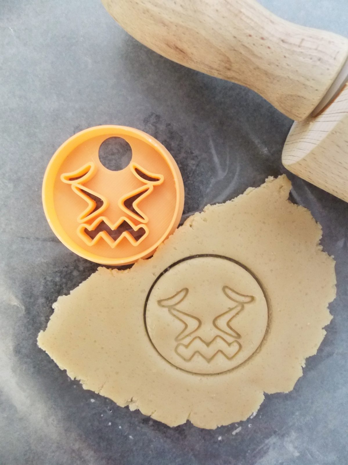 Mini Confounded Emoji Two Part Cookie Cutter
