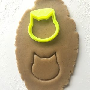 Cat Face Outline Cookie Cutter