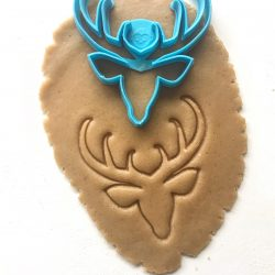 Deer Head Outline Cookie Cutter