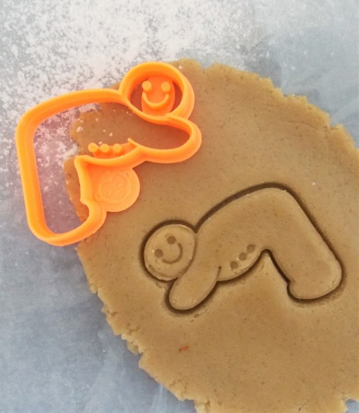 Gingerbread Down Dog Cookie Cutter