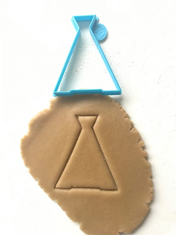 blue teepee outline cookie cutter