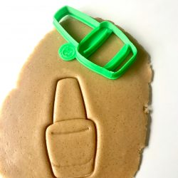 Nail Polish Cookie Cutter On Dough
