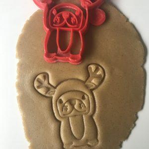 Reindeer Dog Cookie Cutter