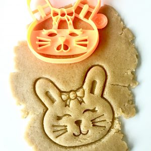 Bunny W Bow Cookie Cutter