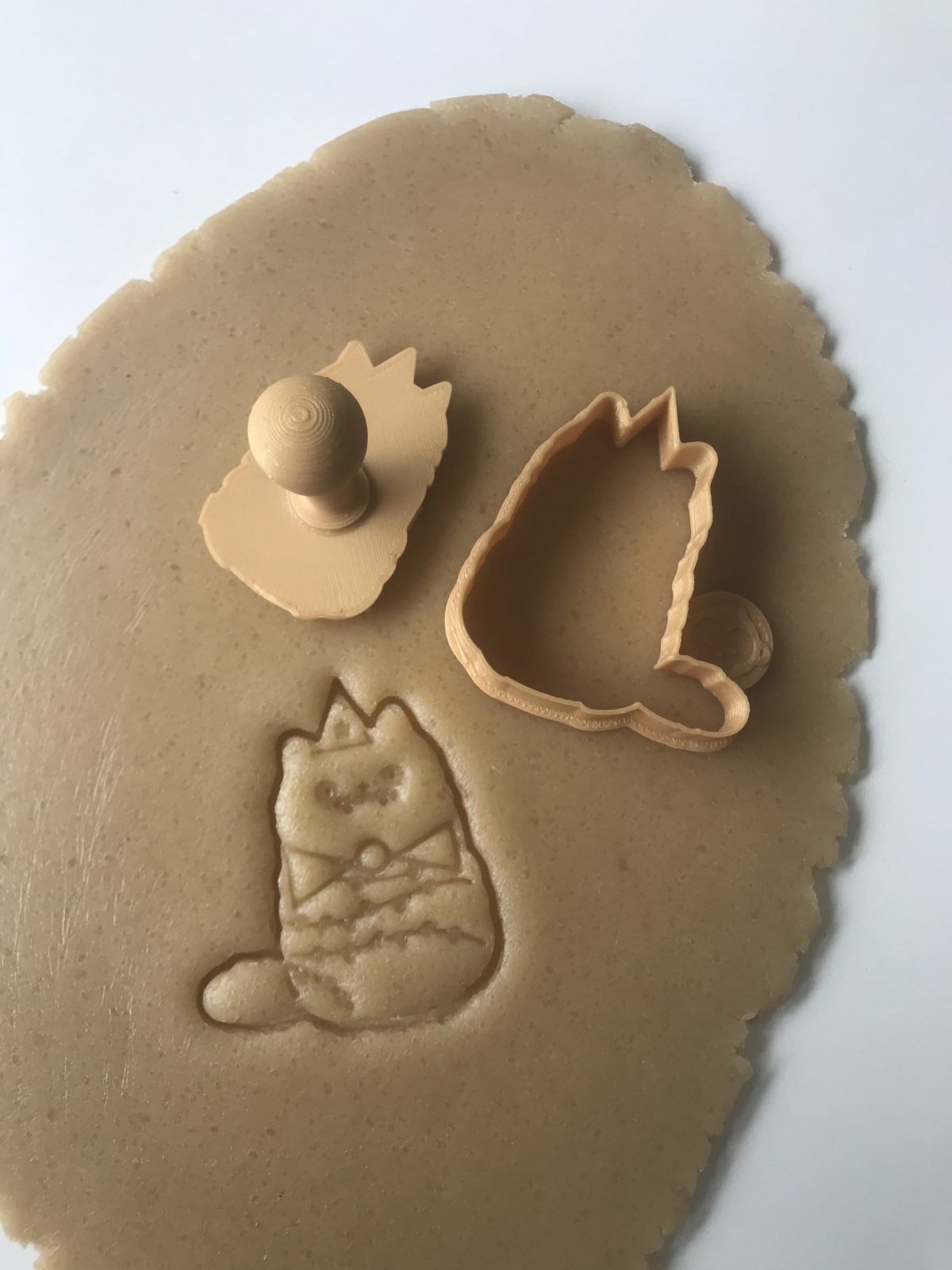 Christmas Tree Cat Mini Cookie Cutter