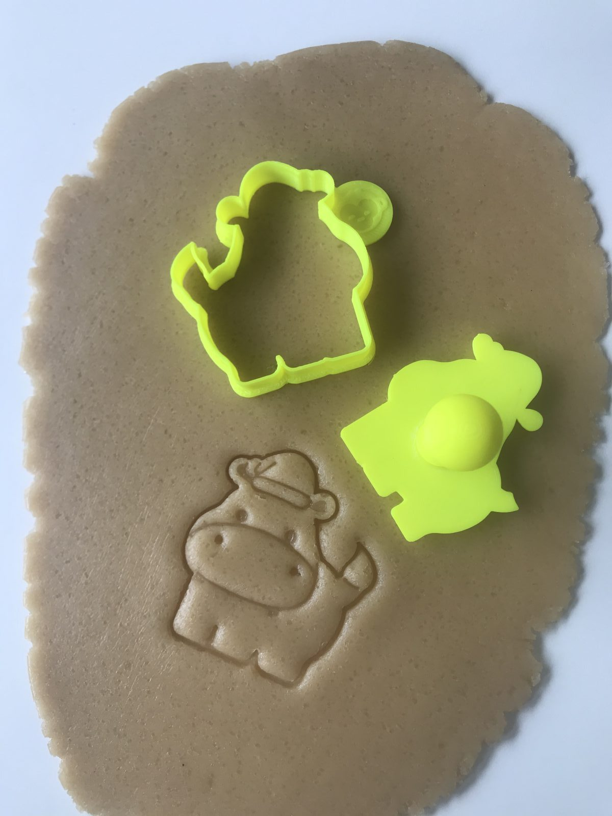Christmas Hippo Mini Cookie Cutter