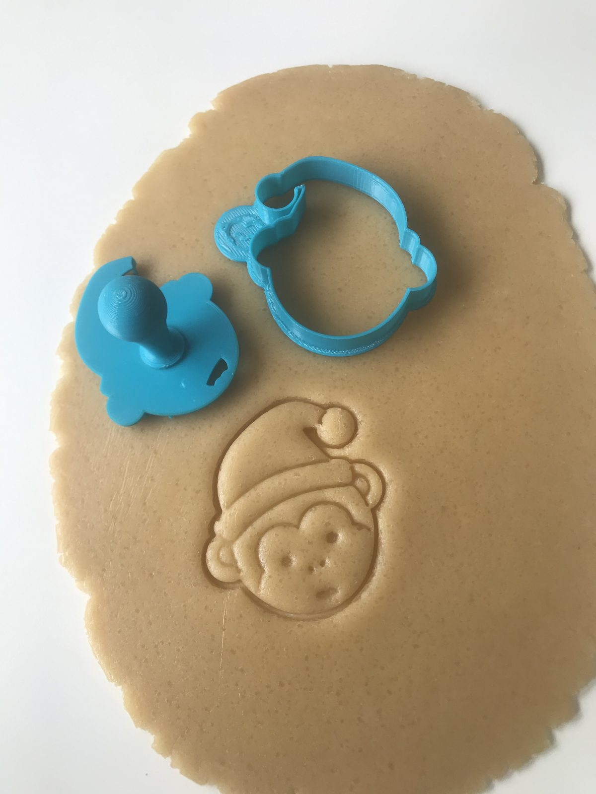 Christmas Monkey Mini Cookie Cutter