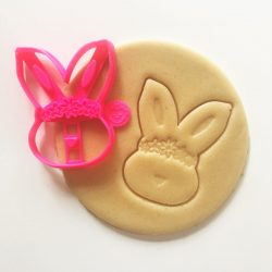 Bunny Rose Cookie Cutter