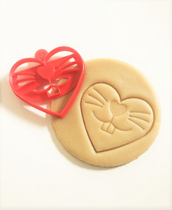 bunny heart, easter cookie cutter